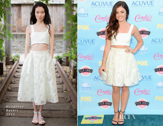 Lucy Hale In Houghton - 2013 Teen Choice Awards