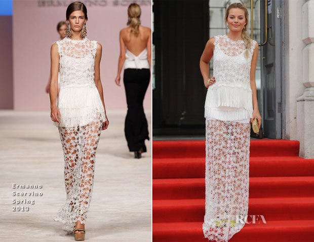Margot Robbie In Ermanno Scervino - 'About Time' World Premiere
