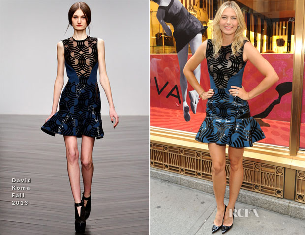 Maria Sharapova In David Koma - 'Sugarpova Accessory Collection' Launch