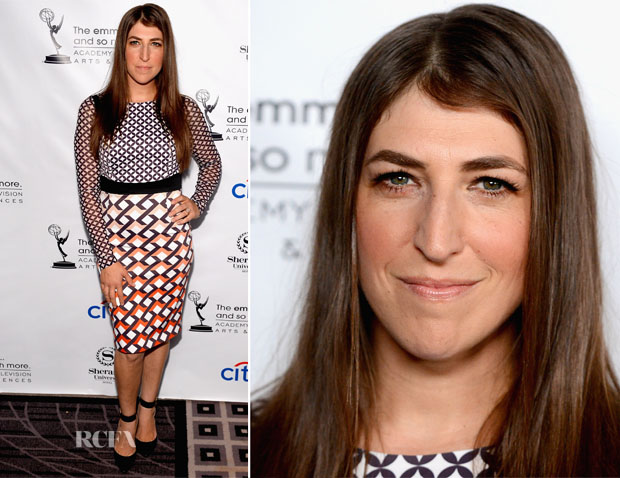 Mayim Bialik In Karen Millen - Academy of Television Arts & Sciences' Performers Peer Group Cocktail Reception