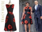 Michelle Obama's Tracy Reese Sophisticated Ambiance Floral Dress