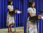 Michelle Obama In Duro Olowu - 'The Powerbroker: Whitney Young's Fight for Civil Rights' Screening