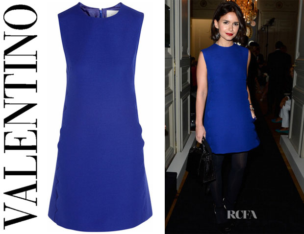 Miroslava Duma's Valentino Wool and silk-blend mini dress
