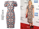 Naomi Watts' Alexander McQueen Stained Glass Print Dress