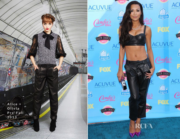 Naya Rivera In Alice + Olivia - 2013 Teen Choice Awards