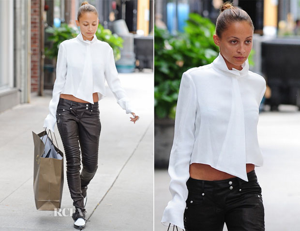 Nicole Richie In Balmain & Mugler - Out In New York City