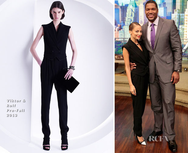 Nicole Richie In Viktor & Rolf - 'Live with Kelly and Michael