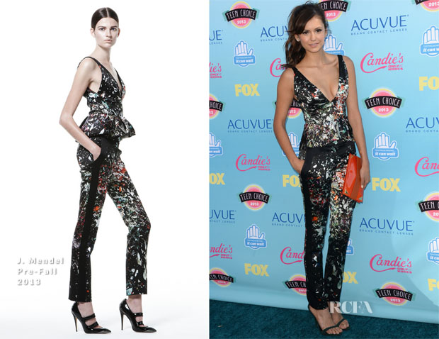 Nina Dobrev In J Mendel - 2013 Teen Choice Awards