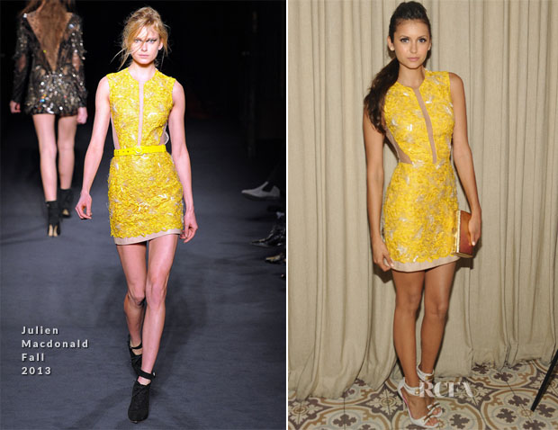 Nina Dobrev In Julien Macdonald - Cosmopolitan's Summer Bash