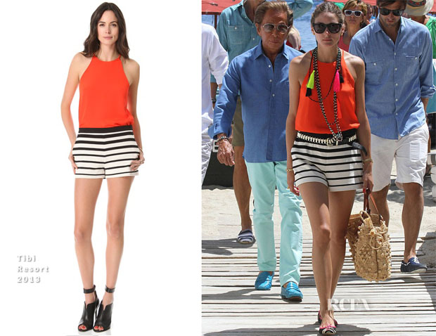 Olivia Palermo In Tibi - Mykonos Vacation