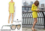Olivia Palermo's Kate Spade New York Dawn Dress & Wunderkind Turquoise Ocelot Sunglasses
