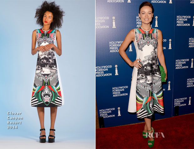 Olivia Wilde In Clover Canyon - Hollywood Foreign Press Association's 2013 Installation Luncheon