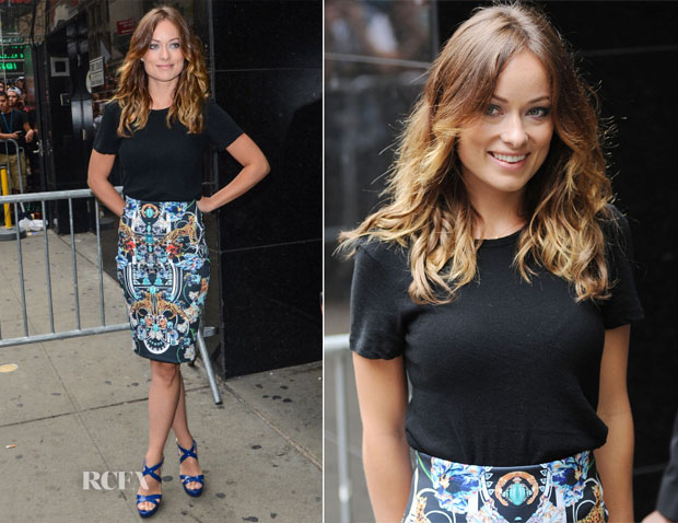 Olivia Wilde In Crippin & Clover Canyon - Good Morning America