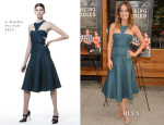 Olivia Wilde In J. Mendel - 'Drinking Buddies' Brooklyn Screening