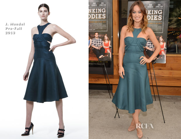 Olivia Wilde In J Mendel - 'Drinking Buddies' Brooklyn Premiere
