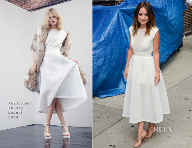 Olivia Wilde In Theyskens' Theory - Late Night with Letterman