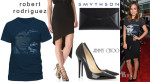 Olivia Wilde's Bruce Springsteen The River T Shirt, Robert Rodriguez Asymmetrical Skirt, Smythson Envelope Clutch & Jimmy Choo 'Anouk' Pumps