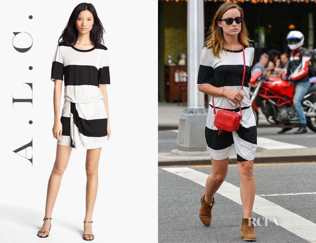 Olivia Wilde's ALC Finn Stripe Dress