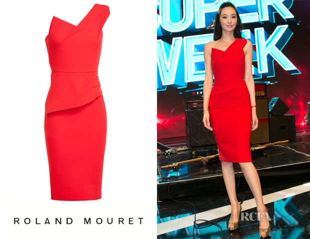 Pace Wu's Roland Mouret Pernice Dress
