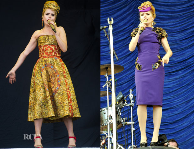 Paloma Faith In Dolce & Gabbana & Julien Macdonald - V Festival