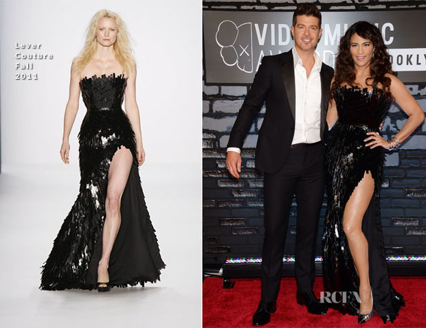 Paula Patton In Lever Couture - 2013 MTV Video Music Awards #VMAs
