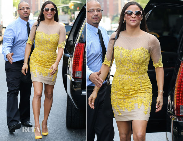 Paula Patton In Oliver Tolentino - The Today Show