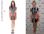 Peyton List's Clover Canyon 'Lotus Temple' Dress