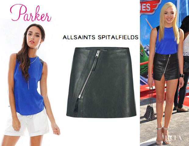 Peyton List's Parker 'Jeri' Tank And All Saints Mini Split 'Lucille' Skirt
