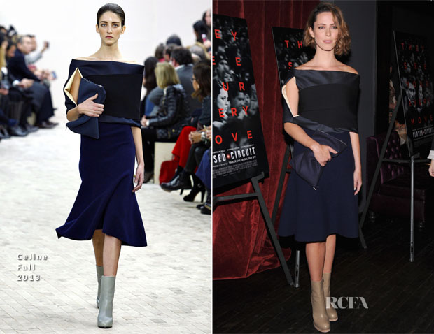 Rebecca Hall In Celine - 'Closed Circuit' New York Screening