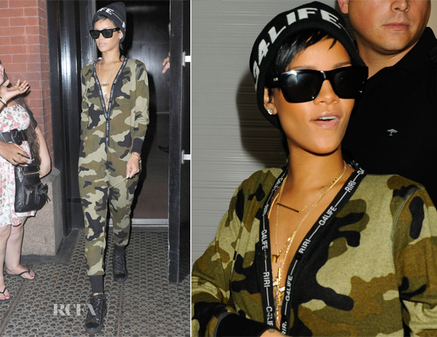 Rhianna In Rihanna for River Island - Out In New York City