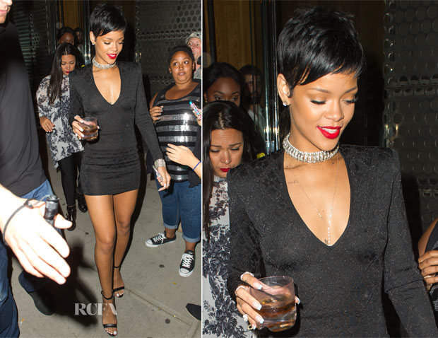 Rihanna In Balmain - VMAs After-Party