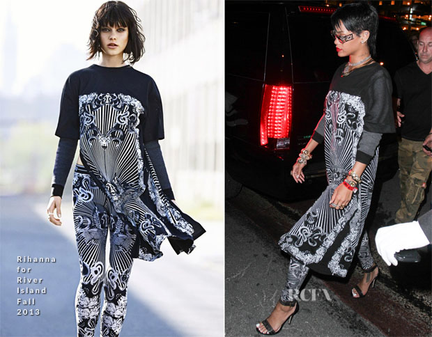 Rihanna In Rhianna for River Island - Miami Beach