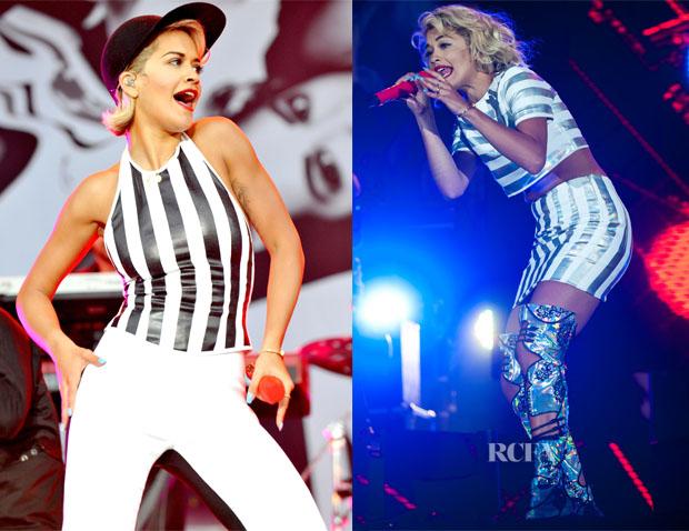 Rita Ora In Jonathan Saunders - V Festival