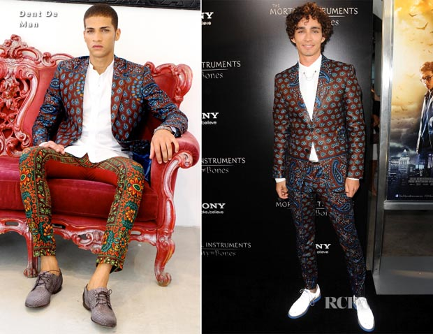 Robert Sheehan In Dent De Man - 'The Mortal Instruments City of Bones' LA Premiere