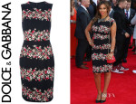 Rochelle Humes' Dolce & Gabbana Floral Sleeveless Dress