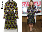 Rose Byrne's Erdem Phyllis Embroidered Organza Dress