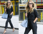 Rosie Huntington-Whiteley In Gerard Darel - Out In London