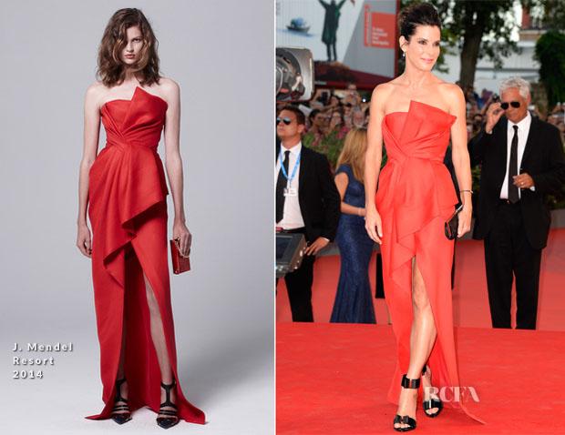 Sandra Bullock In J Mendel - 'Gravity' Venice Film Festival Premiere