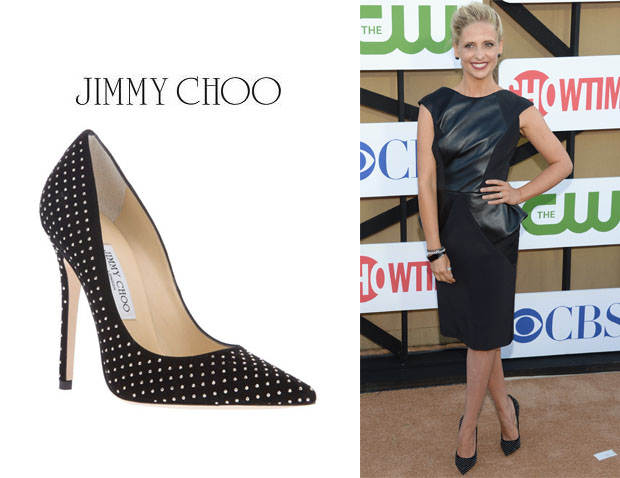 Sarah Michelle Gellar's Jimmy Choo 'Anouk' Studded Pumps
