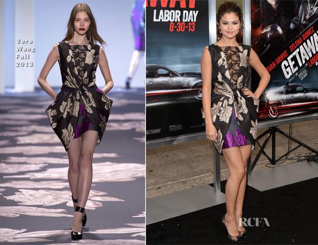 Selena Gomez In Vera Wang - 'Getaway' LA Premiere