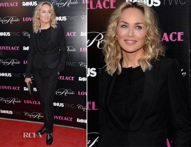 Sharon Stone In Salvatore Ferragamo  - 'Lovelace' LA Premiere