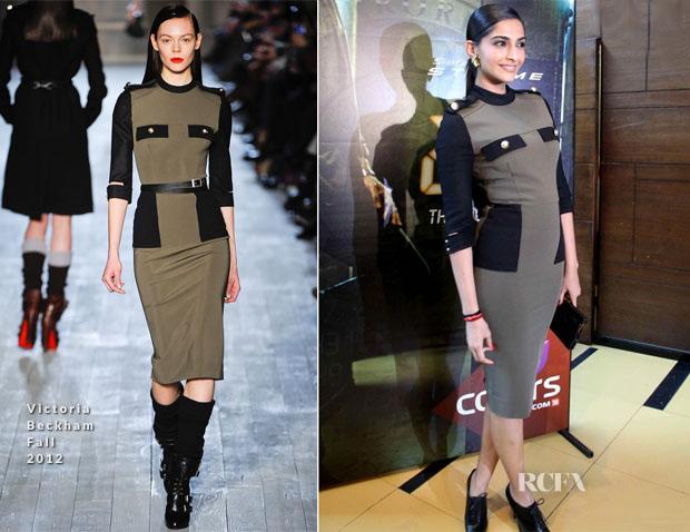 Sonam Kapoor In Victoria Beckham - '24' Mumbai Launch2