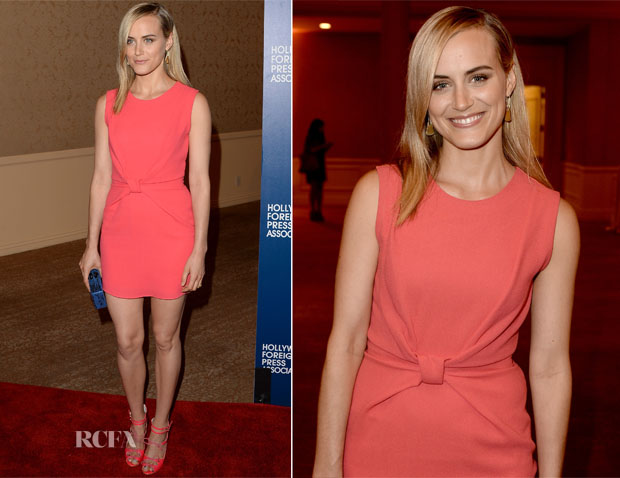 Taylor Schilling In Roksanda Illincic - Hollywood Foreign Press Association's 2013 Installation Luncheon