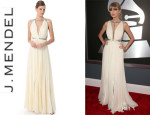 Taylor Swift's J. Mendel Pleated Gown