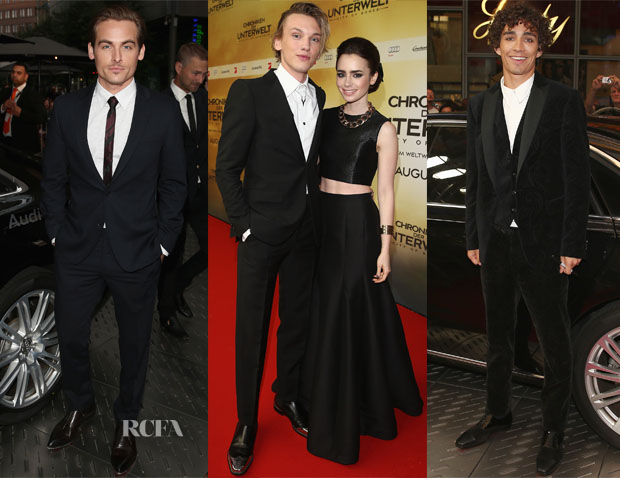 'The Mortal Instruments City of Bones' Berlin Premiere Menswear Round Up