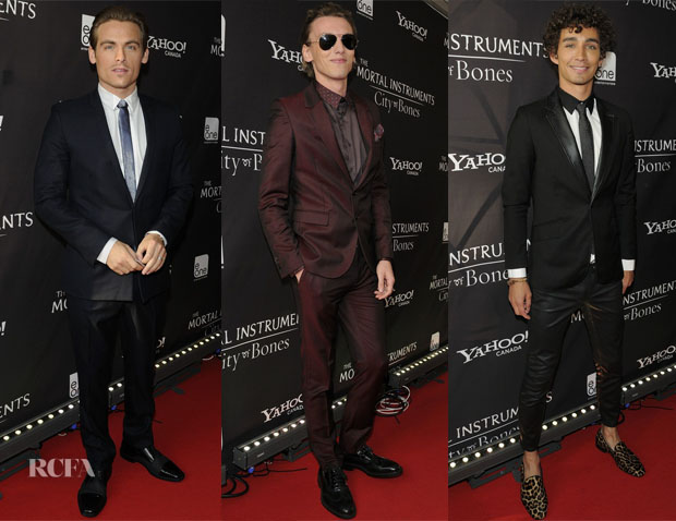'The Mortal Instruments City of Bones' Toronto Premiere Menswear Round Up