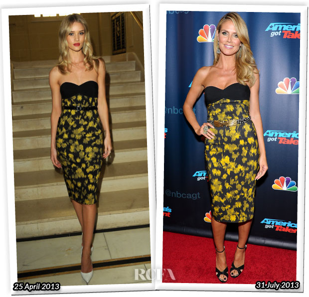 Who Wore Michael Kors Better Rosie Huntington-Whiteley or Heidi Klum