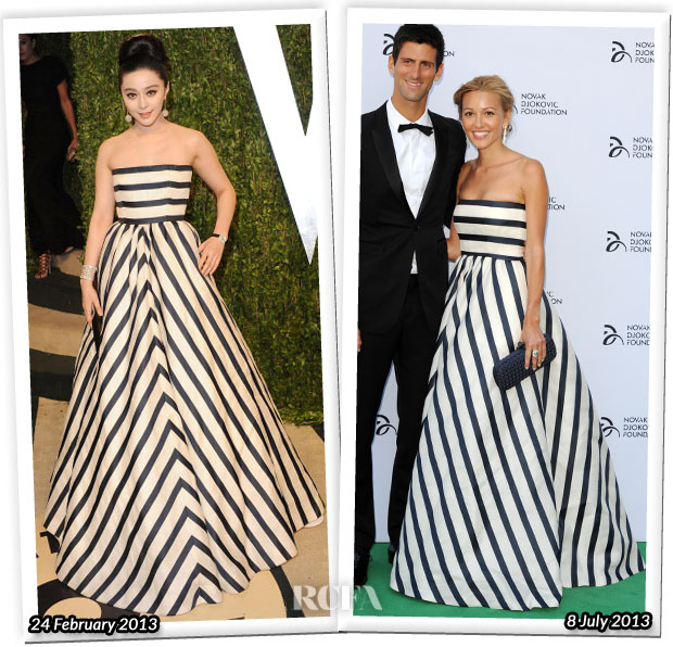 Who Wore Oscar de la Renta Better Fan Bingbing or Jelena Ristic