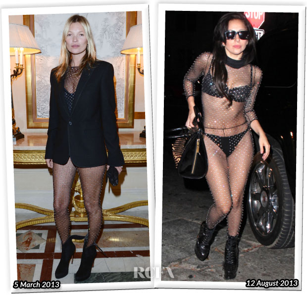 Who Wore Saint Laurent Better Kate Moss or Lady Gaga