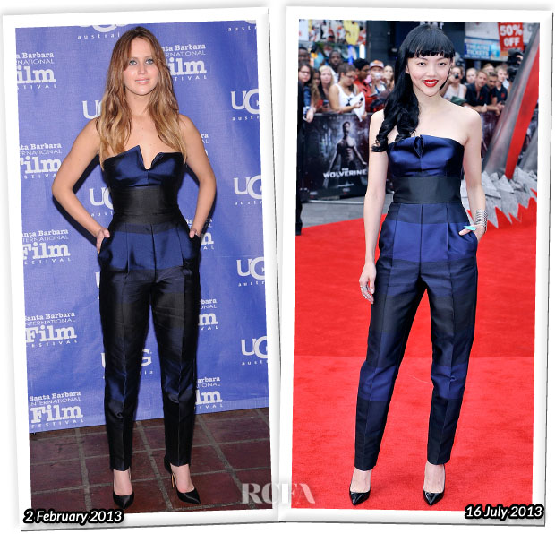 Who Wore Stella McCartney Better Jennifer Lawrence or Rila Fukushima